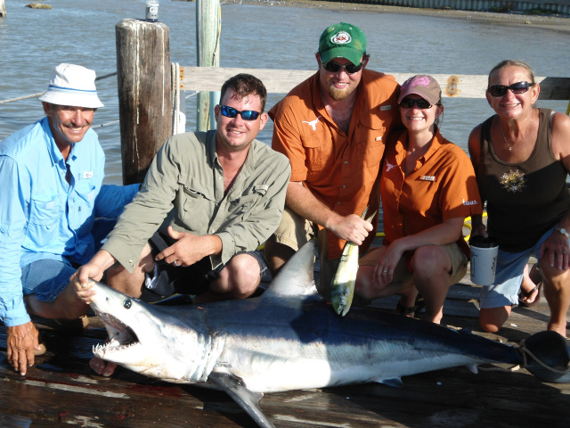Mako Shark Fishing Offshore South Padre Texas